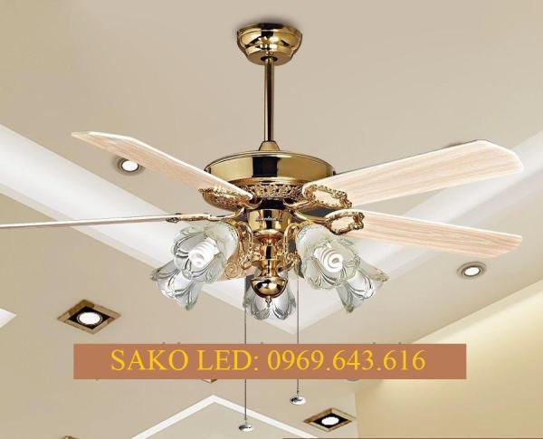 Quạt trần đèn cao cấp trang trí  DQ 6012