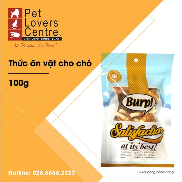 Thức ăn vặt cho chó BURP CHEESE STIX WITH CHICKEN WRAP 100g