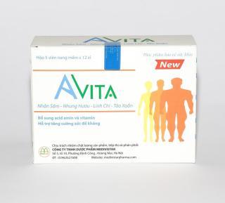 Tăng cân Avita giu p tăng cân bê n vư ng sau khi dư ng uô ng, giu p hô trơ ăn ngon miê ng, nhanh hâ p thu, mang la i da ng điê u đâ y đa chi sau mô t đơ t du ng viên đa m hô trơ tăng cân Avita (01 HÔ P) thumbnail