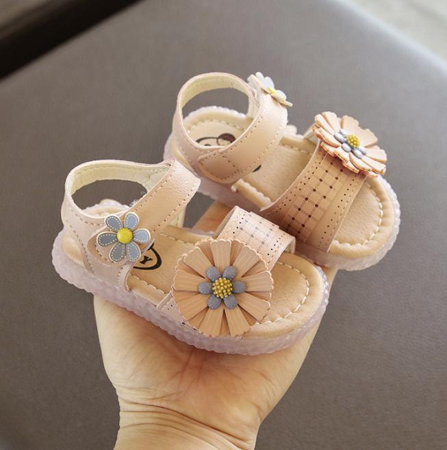 Dép bé gái Hoa Baby đế mềm chống trơn trượt giá rẻ