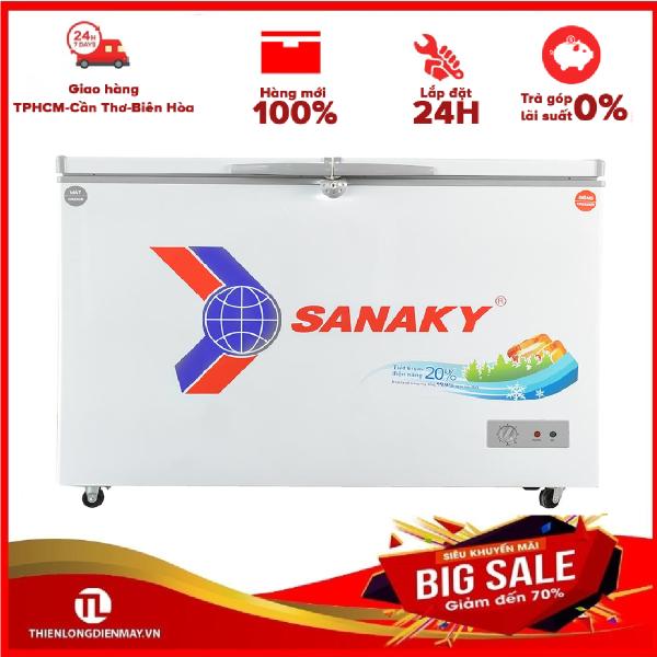 [Nhập ELMAY21 giảm 10% tối đa 200k đơn từ 99k]Tủ đông Sanaky 260 lít VH-3699W1