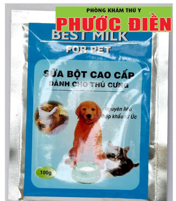 BEST MILK FOR PET - Sữa bột cho chó, mèo (10 gói/đơn)