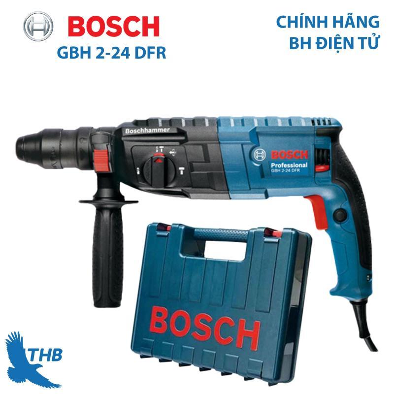 Máy khoan búa Máy khoan đục bê tông Bosch GBH 2-24 DFR công suất 790W mũi khoan búa 24mm Bảo hành 12 tháng Thay đầu cặp khoan sắt dễ dàng