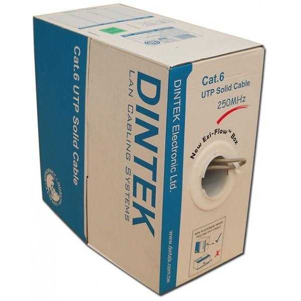Giá Cáp mạng DINTEK CAT.6 UTP, 4 đôi, 23AWG, 100m/hộp-1101-04005CH