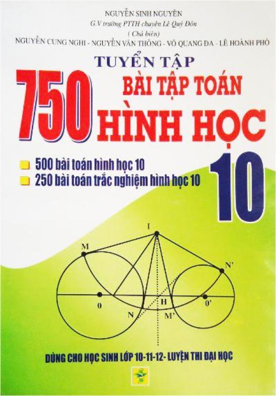 Mua Tuyển tập 750 bài tập toán hình học lớp 10