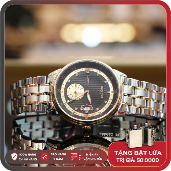 Đồng Hồ Nam Sunrise 1118A - Full hộp , túi , thẻ BH hãng - Sapphire chống xước , chống nước