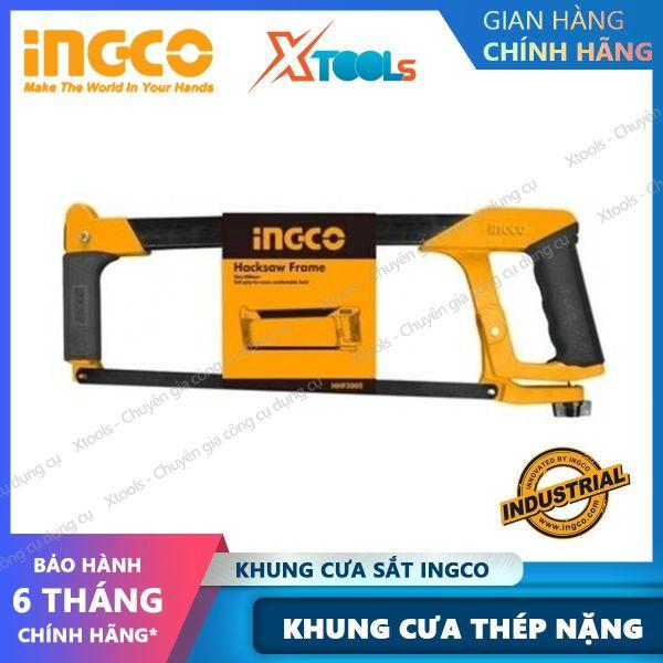 Khung cưa sắt INGCO HHF3008 cơ chế thay đổi lưỡi nhanh. Cưa hợp kim cao cấp chuyên dùng để cưa, cắt các loại gỗ, sắt, nhôm, ống nhựa,.. chống va đập, chống biến dạng sản phẩm chính hãng [XTOOLs] [XSAFE]