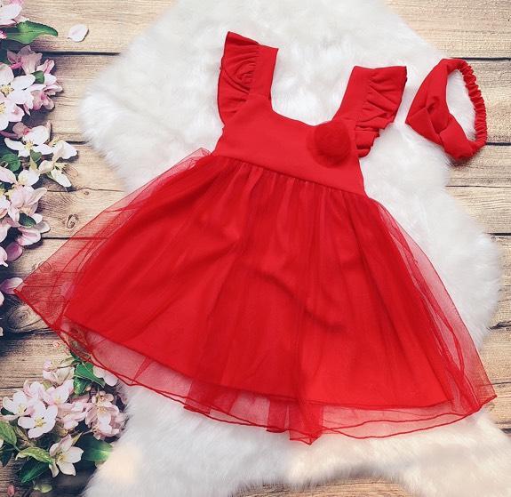 Giá bán Đầm váy bé gái màu đỏ - Lavita Store
