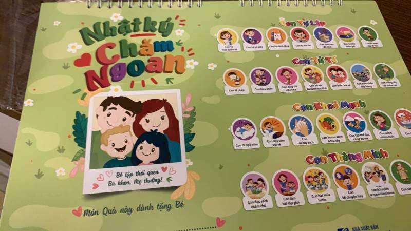 Nhật Ký Chăm Ngoan Sticker- Ảnh Thật, Giấy In Chất Lượng Cao- Phát Triển Trẻ Nhỏ