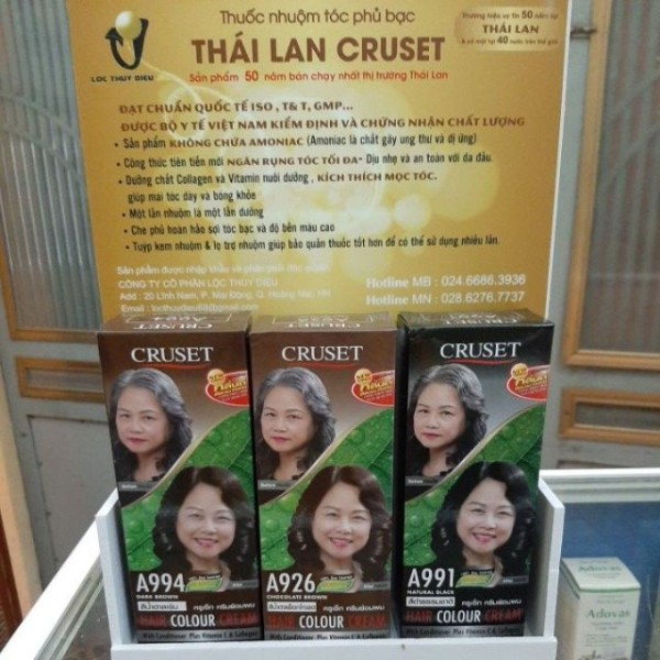 Nhuộm Tóc Phủ Bạc Thái Lan Cruset giá rẻ