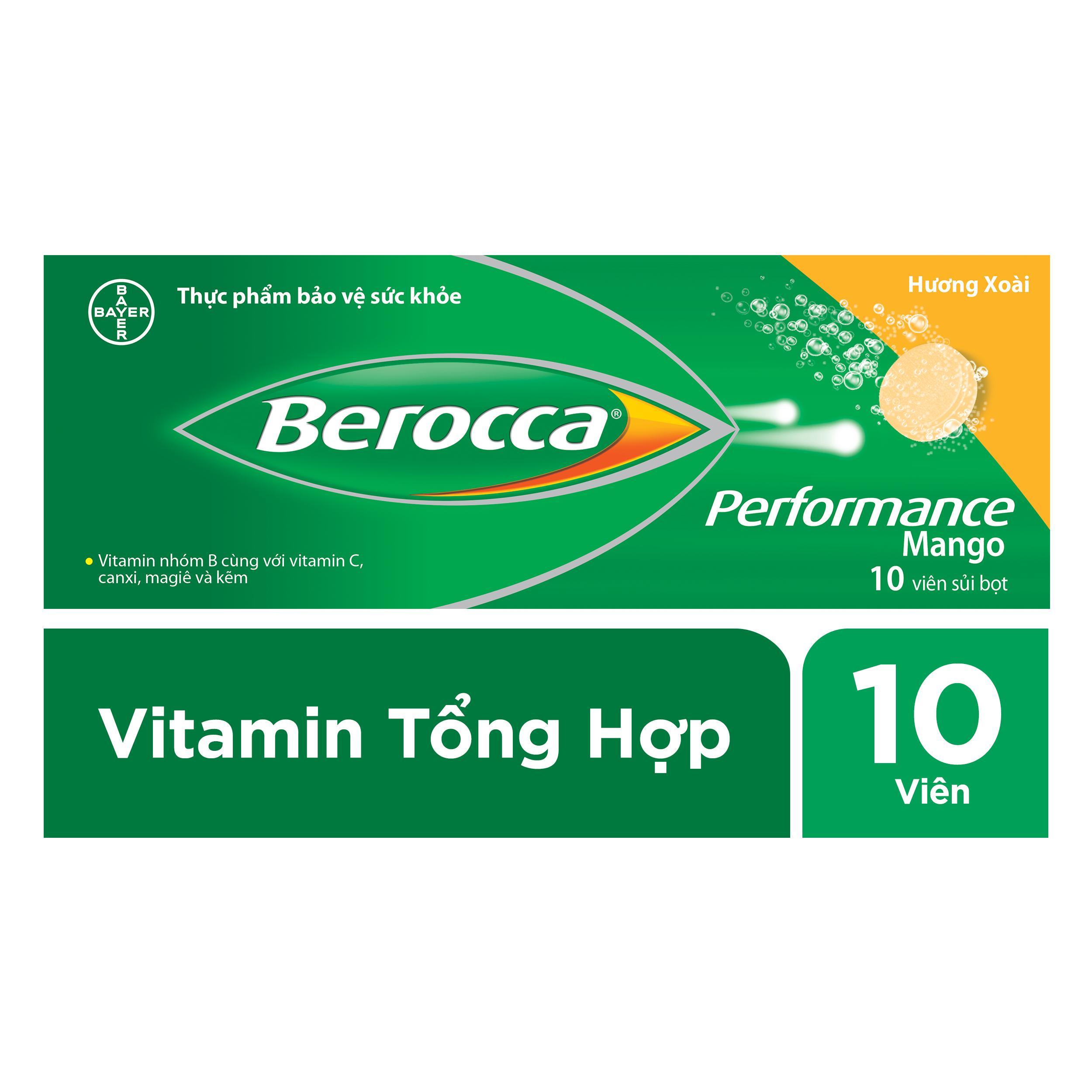 Viên sủi bổ sung Vitamin Berocca Performance 10 Viên