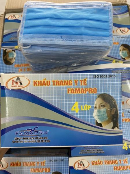 khẩu trang y tế màu xanh 4 lớp.kháng khuẩn ngăn ngừa vi rút.hộp 50 cái giá 89k