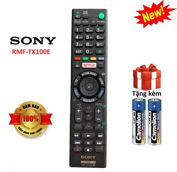 Điều khiển tivi Sony RMF-TX100E dùng chung các dòng Sony LED/LCD Smart - Hàng tốt [ tặng kèm pin, BH đổi mới ]