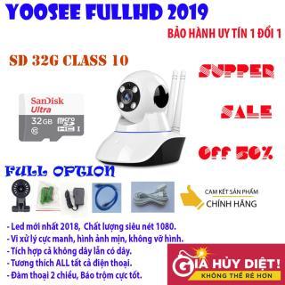 Camera wifi yoosee Siêu nét FULL HD 1920x1080, công nghệ led mới, hình ảnh sắc nét, không bị giật, ổn định - đàm thoại 2 chiều, cảm biến chuyển động, tích hợp báo động, BH UY TIN 1 ĐỔI 1 bởi DMX Tặng thẻ nhớ 32G CH class10 thumbnail