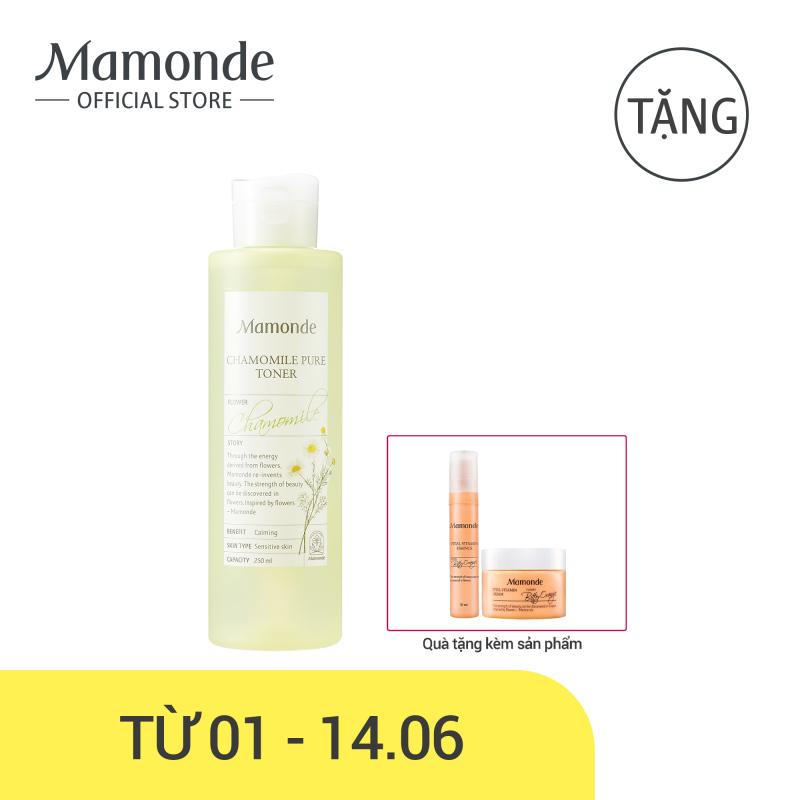 Nước cân bằng dưỡng ẩm thiết yếu dịu nhẹ cho da nhạy cảm Mamonde Chamomile Pure Toner 250ml