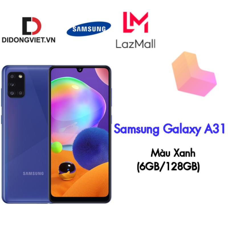 Điện thoại Samsung Galaxy A31 (6GB/128GB) - Hàng chính hãng - Màn hình 6.4 Full HD+, bộ 4 Camera sau, Camera Macro 5MP, Pin 5000mAh sạc nhanh siêu tốc 15W