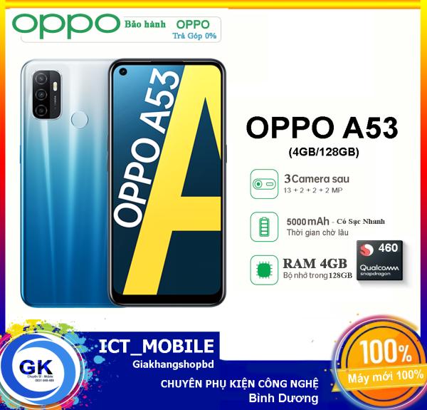 Điện thoại OPPO A53 4GB/128GB (2020) |Bảo Hành OPPO| Chip Snapdragon 460|Màn Hình 90Hz| Mới