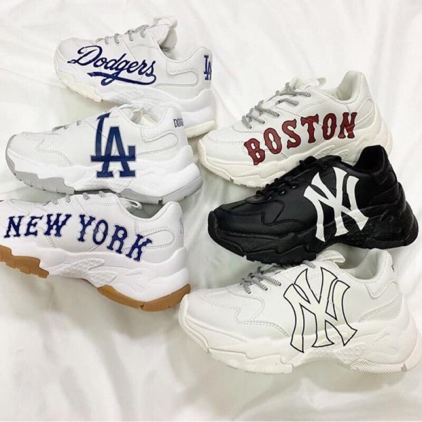 Giày Thể Thao Nam Nữ Sneaker MLB Big ball Chunky A Yankees New York Trắng Auth Full box giá rẻ