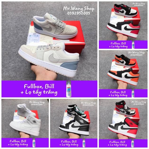 [Fullbox, Bill + Lọ tẩy trắng] Giày thể thao Nike Jordan 1 cao cổ thấp cổ 36-44 giá rẻ