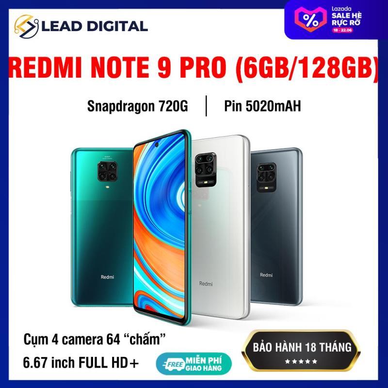 [GLOBAL VERSION] Điện thoại Xiaomi Redmi Note 9 PRO 6/64GB 6/128GB - Màn hình 6.67 FULL HD+, Snapdragon 720G 8 nhân, Camera chính 64 MP, Camera trước 16MP góc siêu rộng, pin 5020 mAh sạc nhanh 30W - BH Chính hãng 18 tháng
