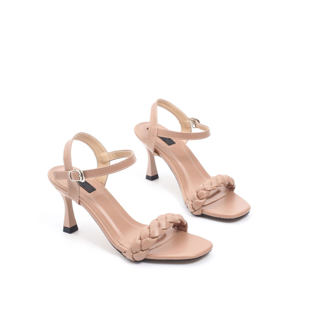 Giày Sandal Cao Gót 7cm Quai Thắt Bím Pixie X580 giá rẻ