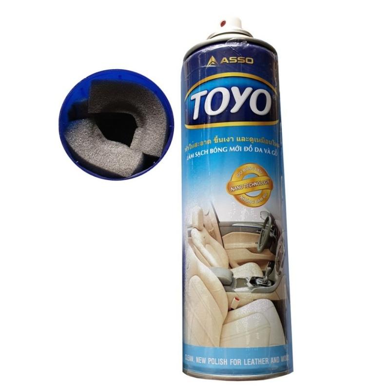 Chai Xịt Đánh Bóng Nội Thất Da, Nhựa, Táp Lô Ô Tô Toyo