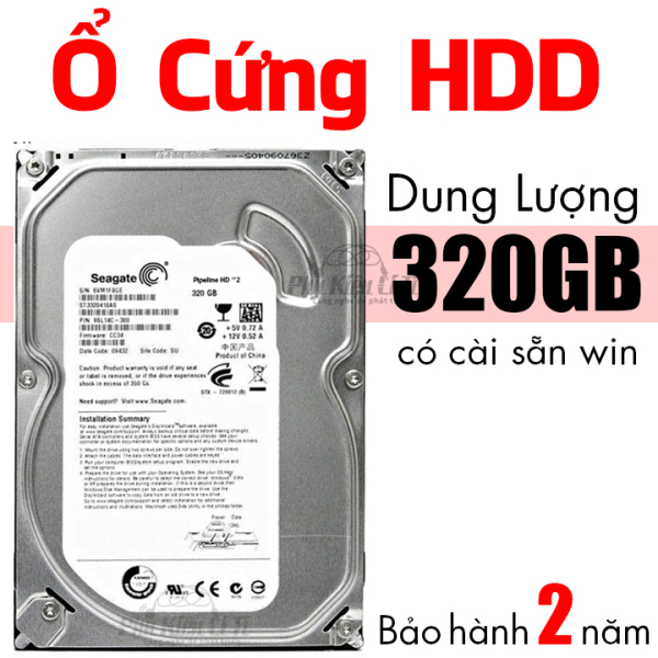 Bảng giá Ổ cứng HDD máy tính bàn Seagate 320 GB Cài sẵn hệ điều hành Bảo Hành 2 Năm Phong Vũ