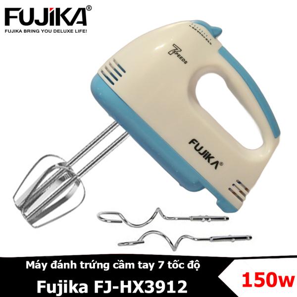Máy đánh trứng cầm tay Fujika FJ-HX3912 thiết kế 7 tốc độ dùng để đánh trứng, trộn bột, làm bánh