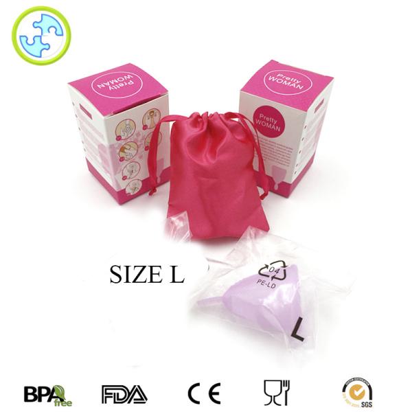 Cốc nguyệt san silicone Pretty Woman (Hồng Nhạt) thay thế băng vệ sinh và tampon - SIZE L