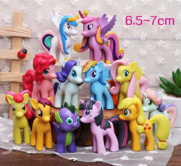 Đồ Chơi Mô Hình 12 Nàng Ngựa Thiên Thần Pony Xinh Đẹp 6cm - 8cm