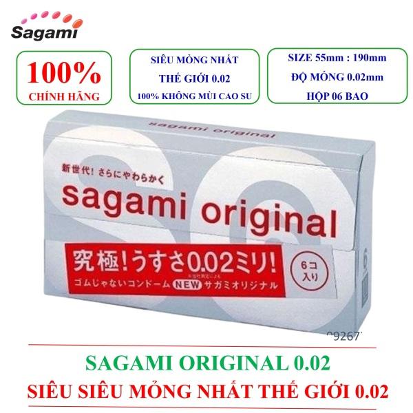 [BAO CAO SU SAGAMI] Bao cao su siêu siêu mỏng nhất thế giới ORIGINAL 0.02mm hộp 06 chiếc