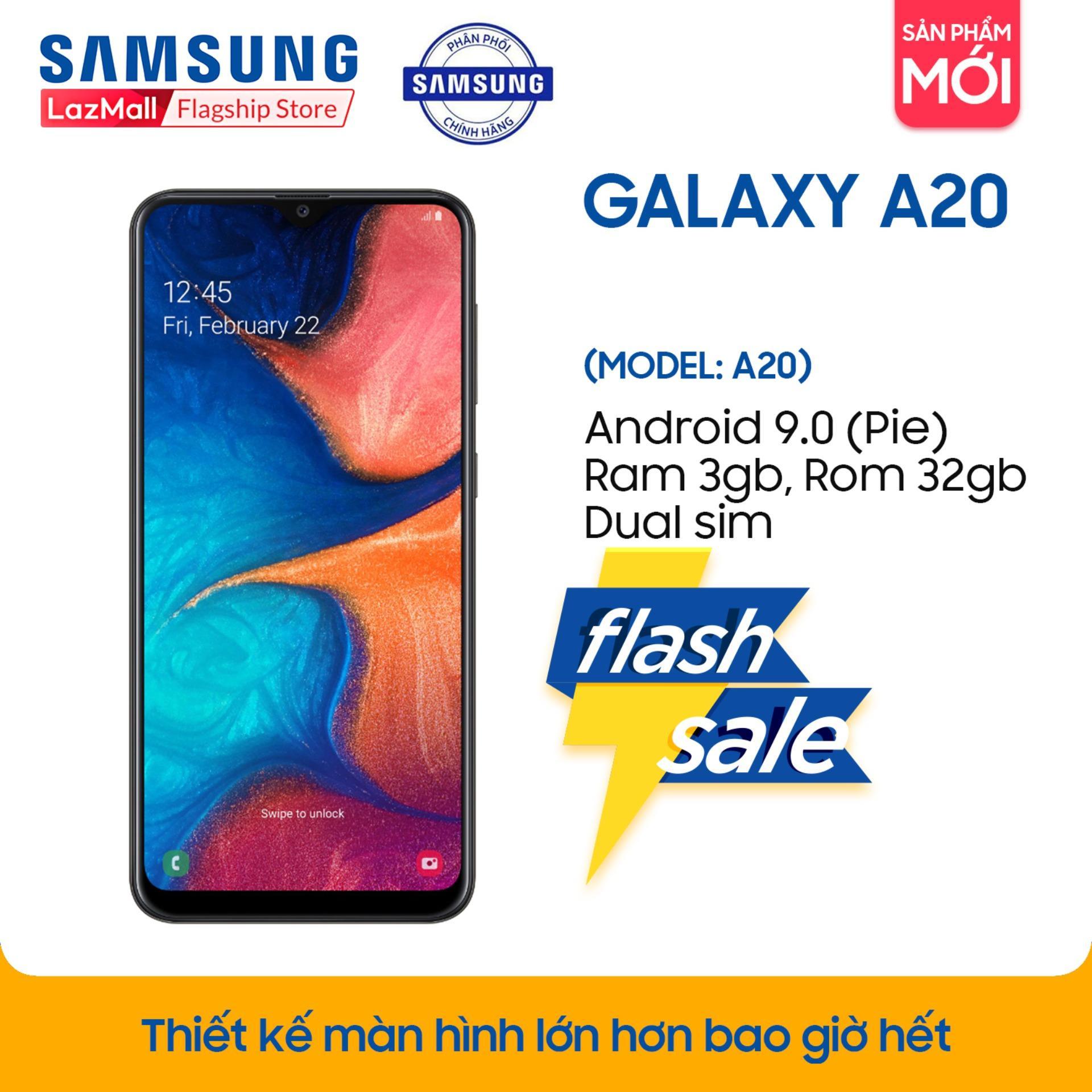 Điện thoại Samsung Galaxy A20 32GB/3G - Hàng phân phối chính hãng