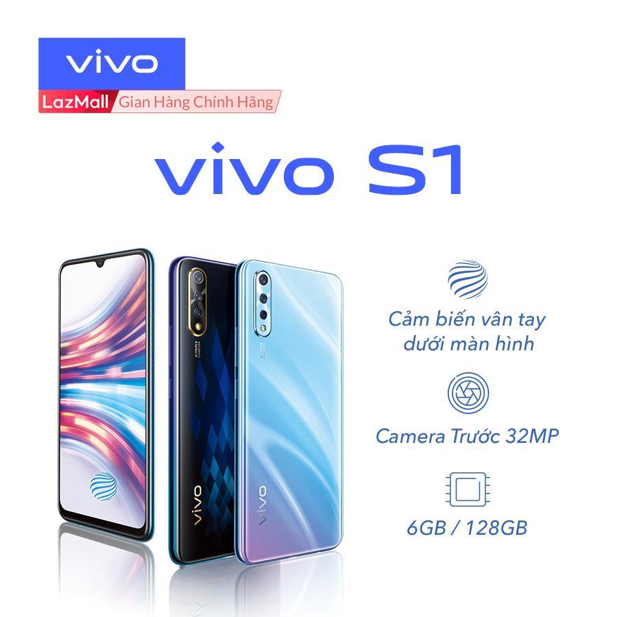 Điện thoại Vivo S1 6GB/128GB Xanh ngọc trai/ Đen thạch anh