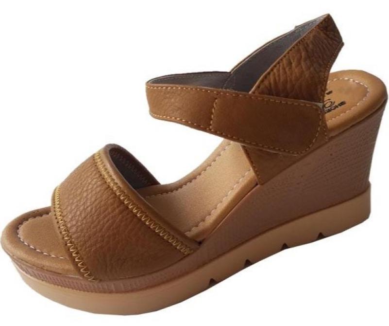 Giày Sandal Nữ Đế Xuồng Da Bò BIGBEN DS17 giá rẻ