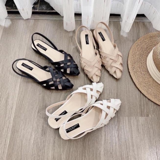 [ ảnh thật] giày cao gót, sandal nữ quai đan 3 màu cực êm chân dễ phối đồ hàng hot hè 2021 giá rẻ