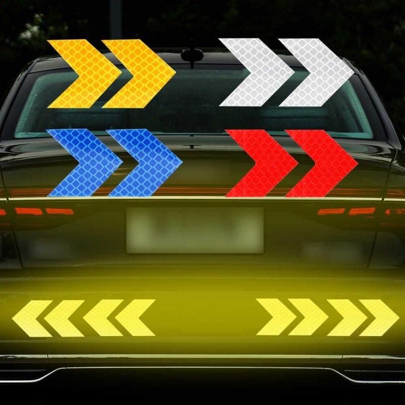 10 hình dán mũi tên phản quang cảnh báo an toàn cho ô tô xe máy