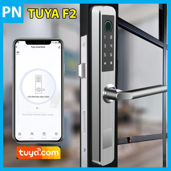 Khóa Cửa Thông Minh Wifi TUYA F2 Cao Cấp Chống Nước Dùng Cho Cửa Nhôm Xingfa