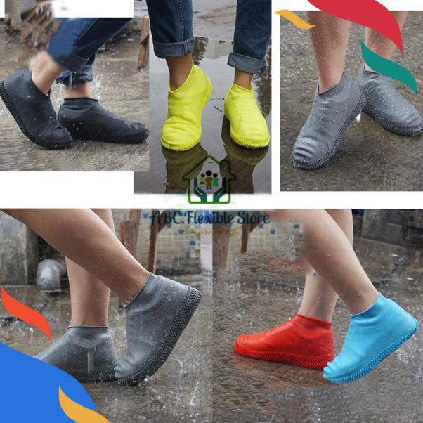 01 đôi Bọc Giày Silicon Không Thấm Nước Có Thể Tái Sử Dụng Bọc Giày Đi Bộ Chống Mưa Chống Trượt giá rẻ