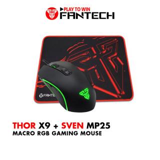 Combo Gaming FANTECH Tiêu Chuẩn Chuột X9 THOR + Lót Chuột MP25 MP292 - Hãng Phân Phối Chính Thức thumbnail