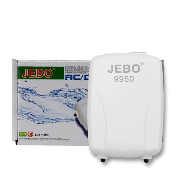 Jebo 9950 - Sủi Oxy Chạy Pin Sạc Khi Cúp Điện Cho Hồ Cá