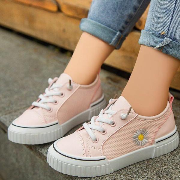 Giá bán [HOT TREND 2020] Giày thể thao trẻ em giày bé gái giày bé trai giày bata hoa cúc