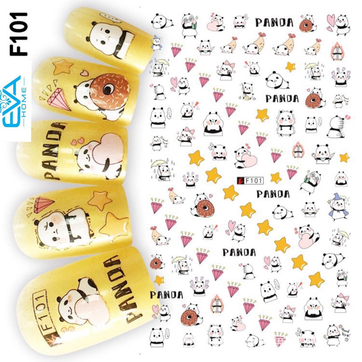 Miếng Dán Móng Tay 3D Nail Sticker Tráng Trí Hoạt Hình F101 tốt nhất