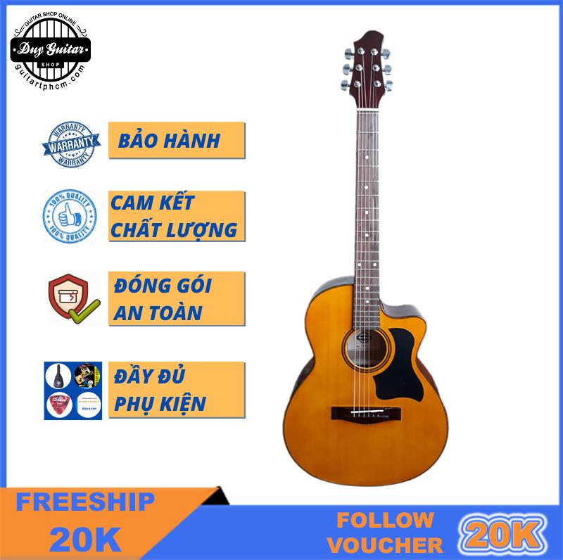Đàn Guitar Acoustic DVE70 Duy Guitar đàn Guitar đệm Hát Dành Cho Bạn Mới Tập Âm Thanh Vang Sáng Cần đàn Thẳng Action Thấp Bấm êm Tay Khuyến Mãi Sốc