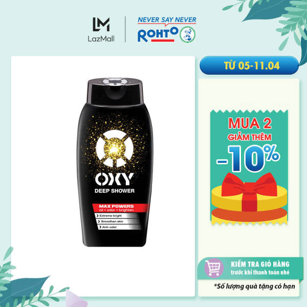 Dầu gội tác động sâu cho nam Oxy Deep Shampoo 180ml giá rẻ