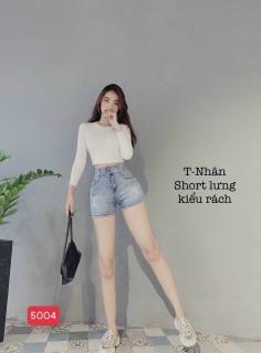 Quần short jean nữ màu xám đẹp phong cách thời trang cao cấp PG76 FASHION SJ5004 - áo thun nam là 6-9 month thumbnail