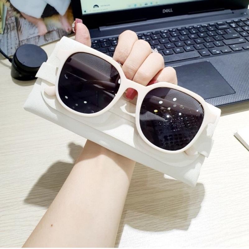 Giá bán Kính mát đa giác thời trang, có thể thay mắt kính râm cận 3314