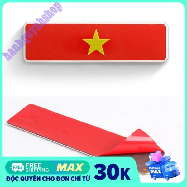Tem Decal Cờ Việt Nam KT 10,5x3cm Hợp Kim Không Gỉ Dán Trang Trí Ô Tô Xe Máy