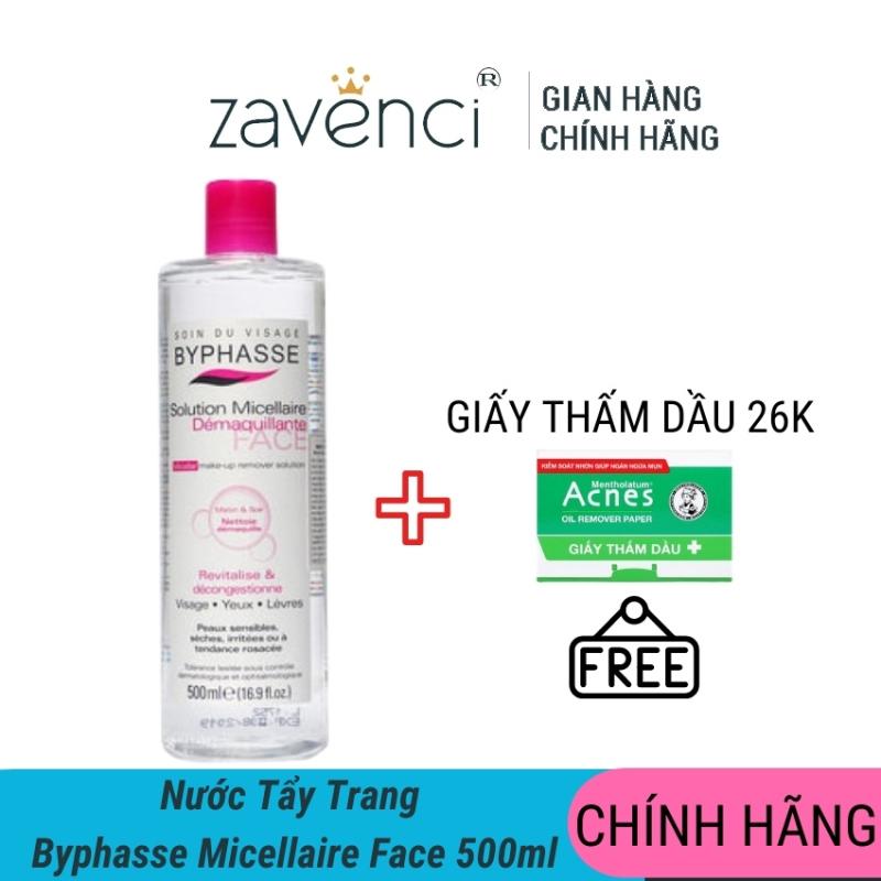 Nước tẩy trang Byphasse Micellar- Zavenci, không cồn, không gây khô căng da sau dùng. Giúp lỗ chân lông sạch thoáng, ngăn ngừa mụn nhập khẩu