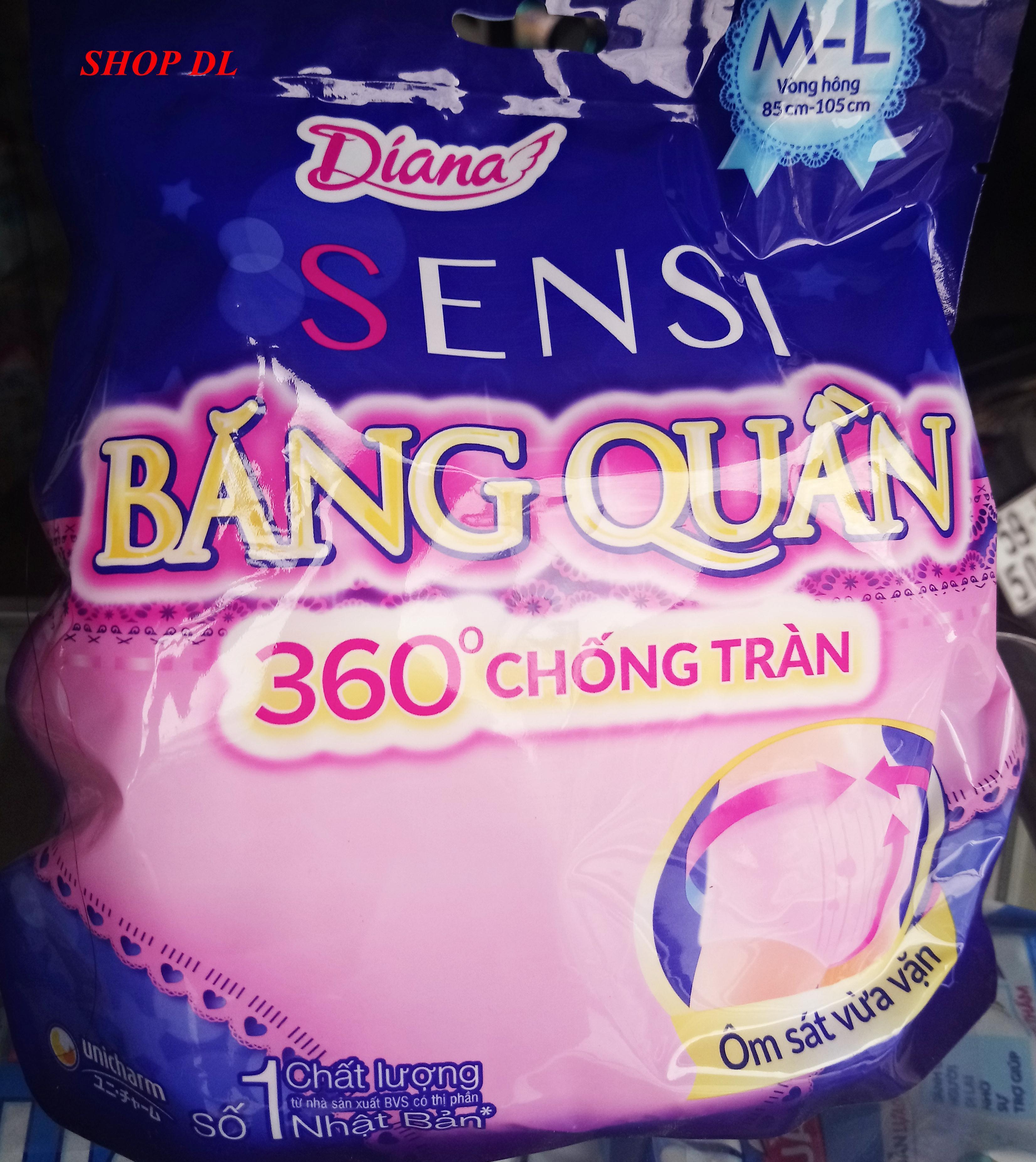 Băng vệ sinh Diana Sensi quần băng size M-L (2 cái/bịch) (bao bì mới)