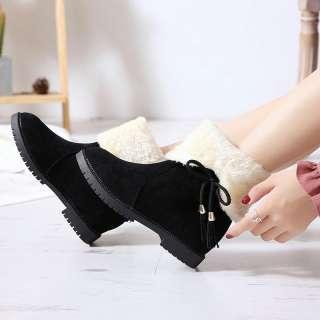 Giày Bốt Nữ Lót Lông Mùa Đông Du Lịch Siêu Ấm - Boot nữ cao cổ độn đế - Boot lông
